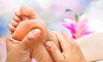 Reflexologist Doing Massage