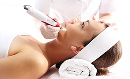 Oval face microneedle mesotherapy, beauty treatment